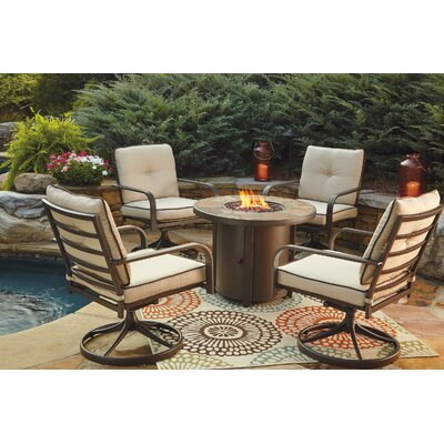 Thelma 5 Piece Dining Set with Firepit