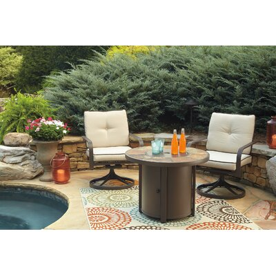 Thelma 3 Piece Dining Set with Firepit