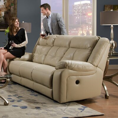 Simmons Upholstery Obryan Pearl Double Motion Reclining Sofa Type: Power
