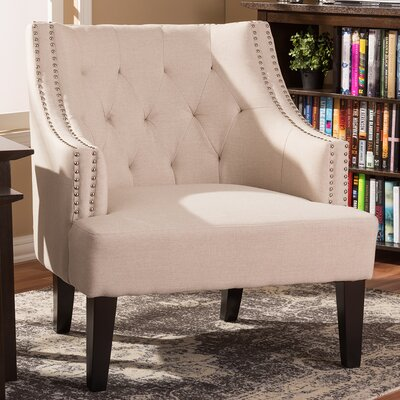 Madeleine Armchair Upholstery Color: Beige