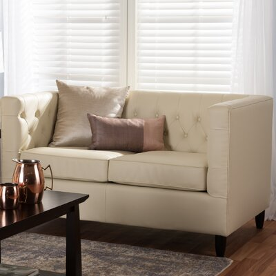 Madeleine Leather Loveseat