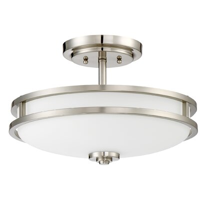 Roberson 3-Light Semi Flush Mount Finish: Brushed Nickel