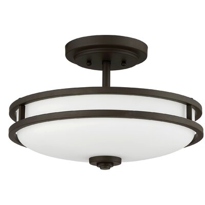 Roberson 3-Light Semi Flush Mount Finish: Old Bronze