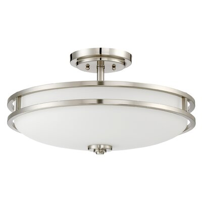 Roberson 4-Light Semi Flush Mount Finish: Brushed Nickel