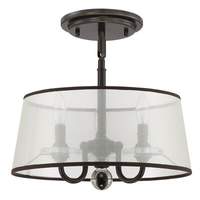 Ellisurg 3-Light Semi Flush Mount