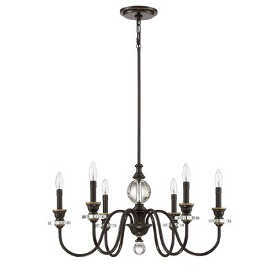 Ellisurg 6-Light Candle-Style Chandelier