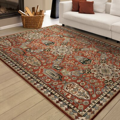 Zuri Brick Red Area Rug