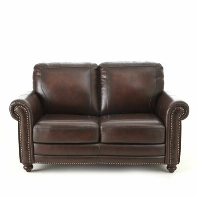 Wilmore Leather Loveseat