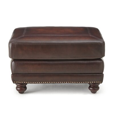 Wilmore Leather Ottoman