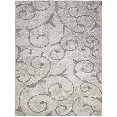 Edinburg Floral Gray Area Rug Rug Size: Rectangle 9 x 12