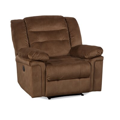 Serta Upholstery Gardiner Recliner Upholstery: Tombstone Tobacco