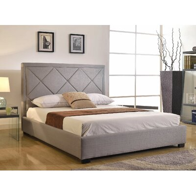 Glenshaw Upholstered Platform Bed Size: Full, Upholstery: Grey