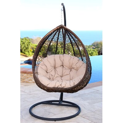 Ghazali Swing Chair with Stand Color: Beige