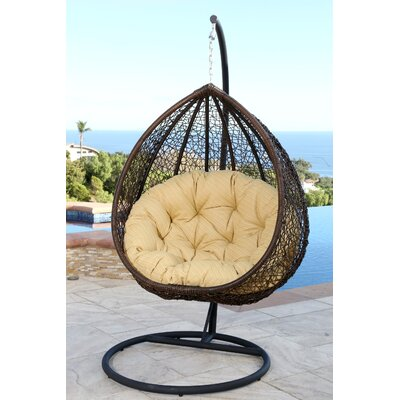 Everson Swing Chair with Stand Color: Yellow