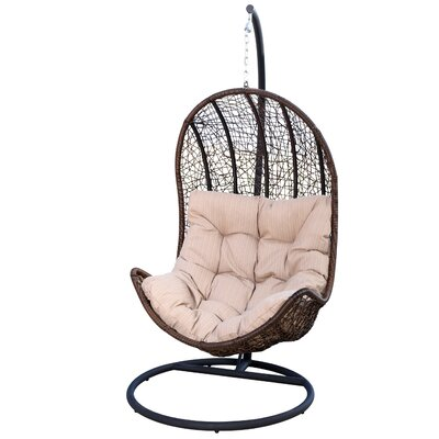 Everson Eggshaped Swing Chair with Stand