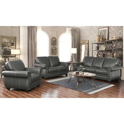 Fairdale 3 Piece Leather Living Room Set