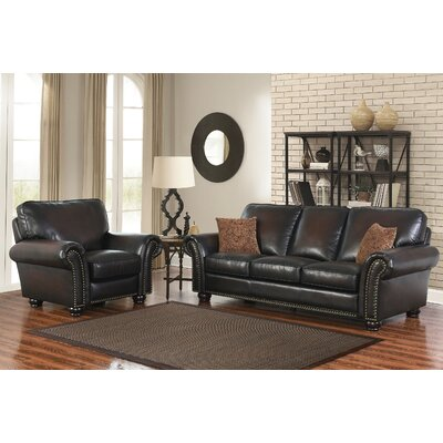 Fallsburg Leather Sofa and Recliner Set