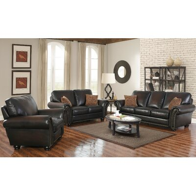 Fallsburg 3 Piece Leather Living Room Set