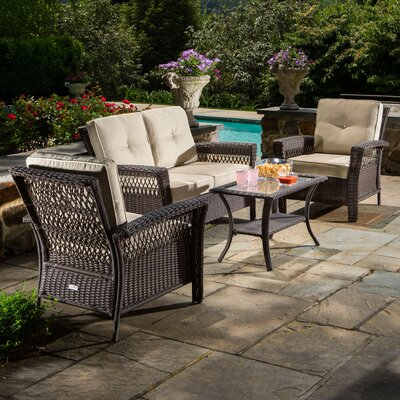 Fernville 4 Piece Seating Group with Cushion