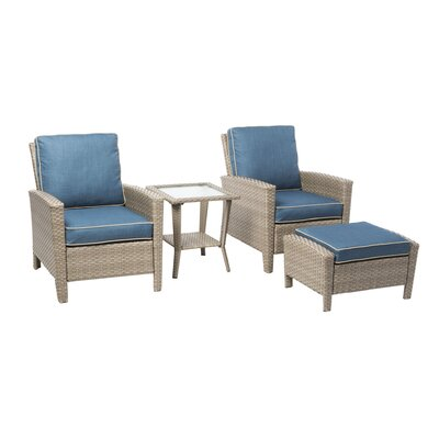 Forestport 4 Piece Seating Group with Cushion