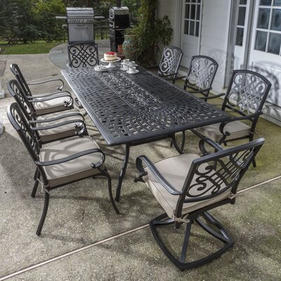 Wrightsville 9 Piece Dining Set with Cushion