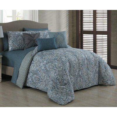 Finleyville 10 Piece Reversible Bed in a Bag Set Size: King
