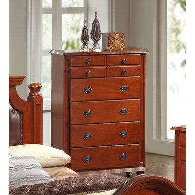 Daley 5 Drawer Chest Color: cherry