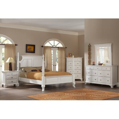 Fellsburg Four Poster 4 Piece Bedroom Set Size: Queen