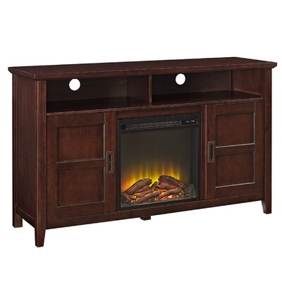 Flintwood 52 TV Stand with Fireplace Color: Coffee