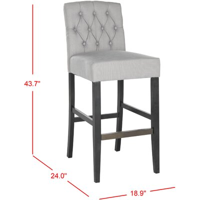 Hutsonville Bar Stool Upholstery: Gray