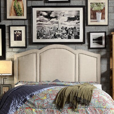 Niagara Queen Upholstered Panel Headboard Upholstery: Beige