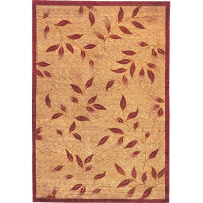 Barnett Sheep Gold/Red Area Rug Rug Size: 4 x 6