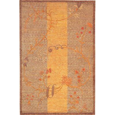 Barnett Sheep Gold/Brown Area Rug Rug Size: 6 x 9