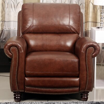 Barnstormer Pushback Leather Recliner