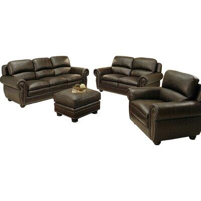 Barrera 4 Piece Leather Living Room Set