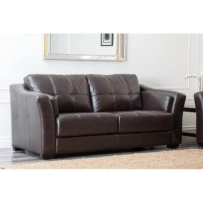 Furniture-Mathers Leather Sofa