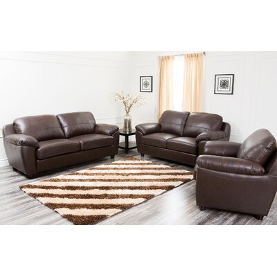 Bartholomew 3 Piece Leather Living Room Set