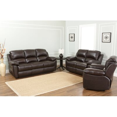 Blackmoor 3 Piece Leather Living Room Set