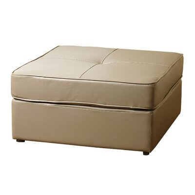 Bartons Bluff Square Ottoman Upholstery: Taupe