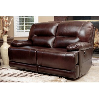 Bartlet Leather Reclining Loveseat