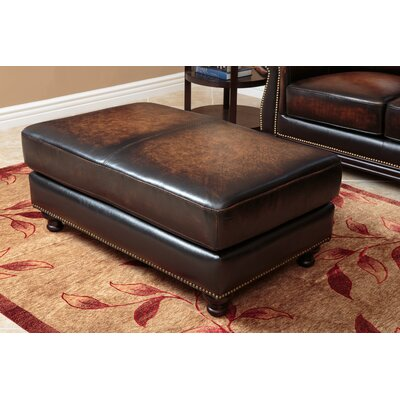 Barwood Leather Ottoman