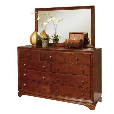 Basche 9 Drawer Dresser with Mirror