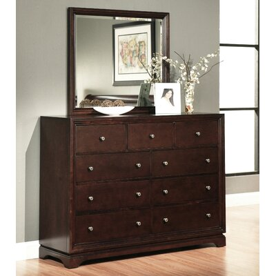 Bolton 9 Drawer Dresser With Mirror