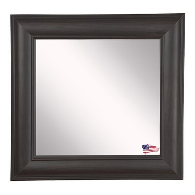 Square Brown Wall Mirror