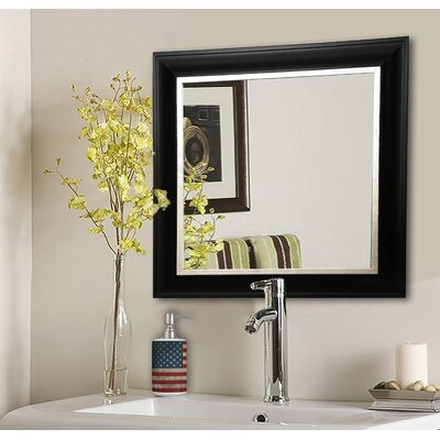 Square Wooden Wall Mirror