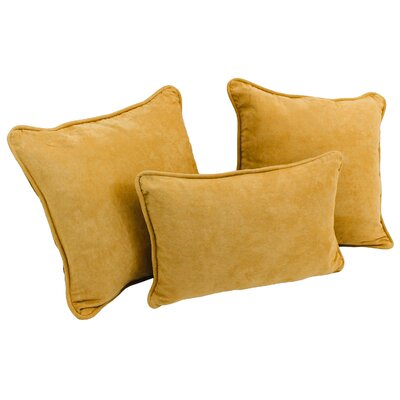 Galbraith 3 Piece Microsuede Throw Pillow Set Color: Lemon
