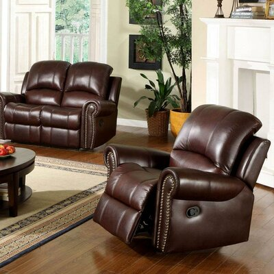 Barnsdale Leather Chaise Recliner