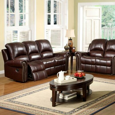 Barnsdale Leather Configurable Living Room Set