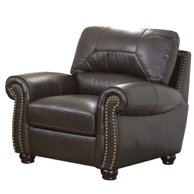 Allen Italian Leather Club Chair