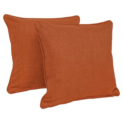 Duquette Outdoor Throw Pillow Color: Cinnamon